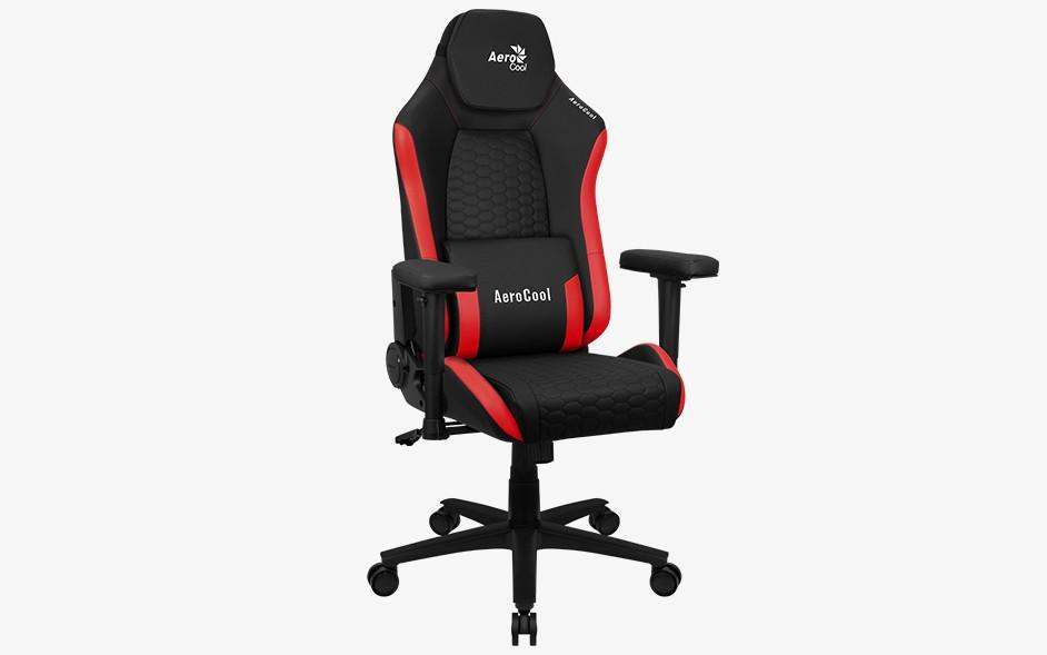 Игровое кресло Aerocool CROWN Leatherette - Красный Red