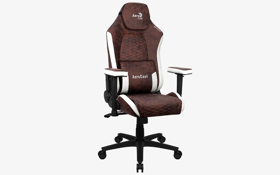 Игровое кресло Aerocool CROWN AeroSuede - Burgundy